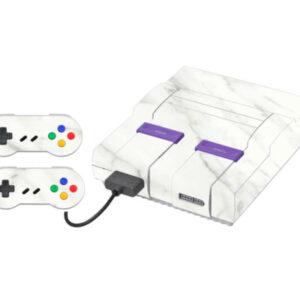 Adesivo Skin Super Nintendo Snes Pelicula Marmore Bianco