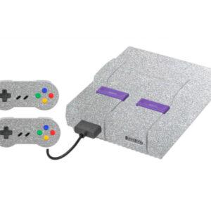 Adesivo Skin Super Nintendo Snes Pelicula Metalico Brilho Cinza