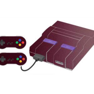 Adesivo Skin Super Nintendo Snes Pelicula Metalio Malbec