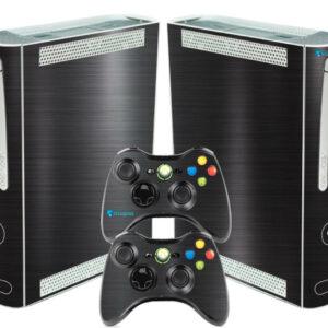 Adesivo Skin Xbox 360 Fat Pelicula Dark Escovado