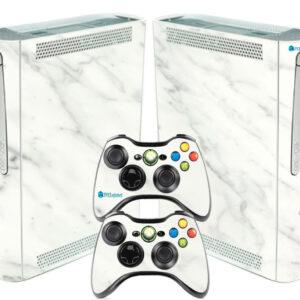 Adesivo Skin Xbox 360 Fat Pelicula Marmore Bianco
