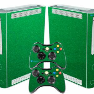 Adesivo Skin Xbox 360 Fat Pelicula Metalico Brilho Verde