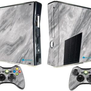Adesivo Skin Xbox 360 Slim Pelicula Marmore Carrara