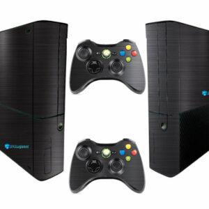 Adesivo Skin Xbox 360 Super Slim Pelicula Dark Escovado