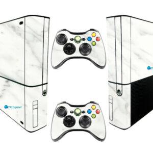 Adesivo Skin Xbox 360 Super Slim Pelicula Marmore Bianco