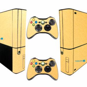 Adesivo Skin Xbox 360 Super Slim Pelicula Metalico Brilho Gold