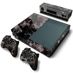 Adesivo Skin Xbox One Fat Pelicula Marmore Nero