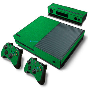Adesivo Skin Xbox One Fat Pelicula Metalico Brilho Verde