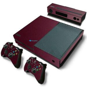 Adesivo Skin Xbox One Fat Pelicula Metalico Malbec
