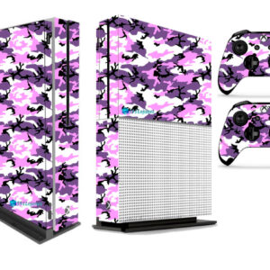 Adesivo Skin Xbox One S Pelicula Camo Purple Roxo
