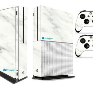 Adesivo Skin Xbox One S Pelicula Marmore Bianco