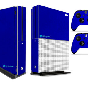 Adesivo Skin Xbox One S Pelicula Metalico Brilho Azul