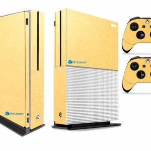 Adesivo Skin Xbox One S Pelicula Metalico Brilho Gold