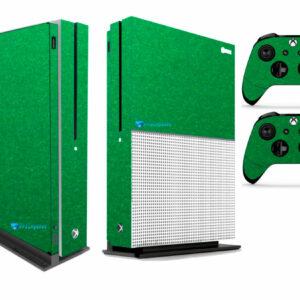 Adesivo Skin Xbox One S Pelicula Metalico Brilho Verde