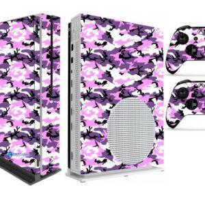 Adesivo Skin Xbox One S V2 Pelicula Camo Purple Roxo