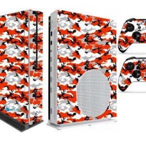 Adesivo Skin Xbox One S V2 Pelicula Camo Red
