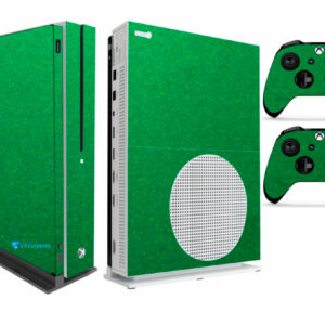 Adesivo Skin Xbox One S V2 Pelicula Metalico Brilho Verde