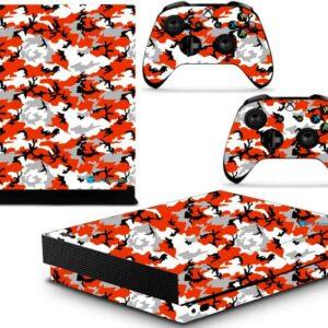 Adesivo Skin Xbox One X Pelicula Camo Red