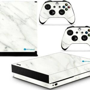 Adesivo Skin Xbox One X Pelicula Marmore Bianco