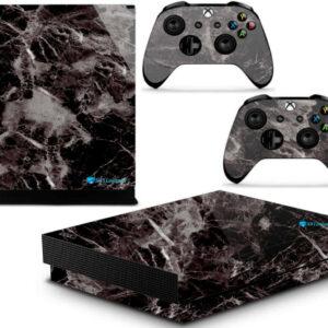 Adesivo Skin Xbox One X Pelicula Marmore Nero