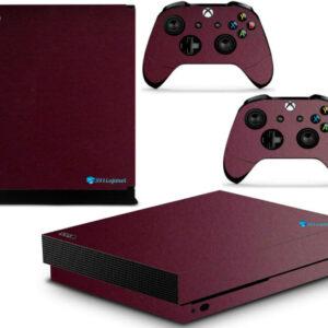 Adesivo Skin Xbox One X Pelicula Metalico Malbec