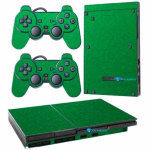 Adesivo Skin Playstation 2 Slim PS2 V1 Pelicula Metalico Brilho Verde