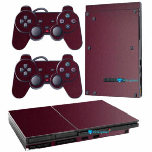 Adesivo Skin Playstation 2 Slim PS2 V1 Pelicula Metalico Malbec