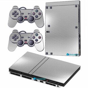 Adesivo Skin Playstation 2 Slim PS2 V2 Pelicula Fibra Cromo