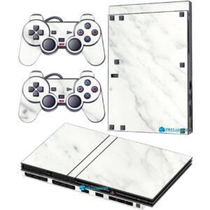 Adesivo Skin Playstation 2 Slim PS2 V2 Pelicula Marmore Bianco