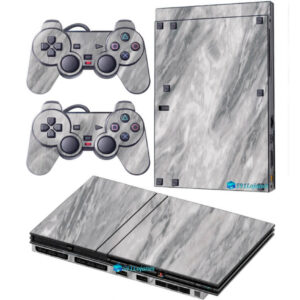 Adesivo Skin Playstation 2 Slim PS2 V2 Pelicula Marmore Carrara