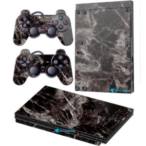 Adesivo Skin Playstation 2 Slim PS2 V2 Pelicula Marmore Nero