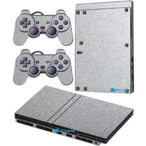 Adesivo Skin Playstation 2 Slim PS2 V2 Pelicula Metalico Brilho Cinza