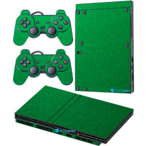 Adesivo Skin Playstation 2 Slim PS2 V2 Pelicula Metalico Brilho Verde