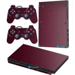 Adesivo Skin Playstation 2 Slim PS2 V2 Pelicula Metalio Malbec