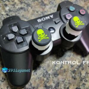 Kontrol Freek Analogico Controle PS3 FPS Shooter Tiro Extensor Protetor Grip Skull Verde