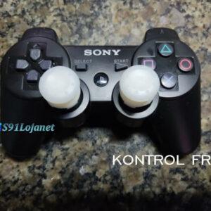 Kontrol Freek Analogico Controle PS3 FPS Shooter Tiro Extensor Protetor Grip Cor Branco