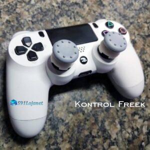 Kontrol Freek Analogico Controle PS4 FPS Shooter Tiro Extensor Protetor Grip Cor Cinza