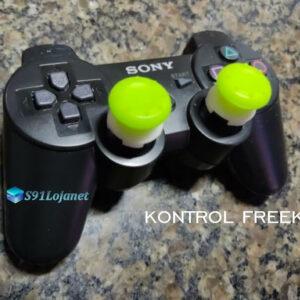Kontrol Freek Analogico Controle PS3 FPS Shooter Tiro Extensor Protetor Grip Cor Verde