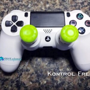 Kontrol Freek Analogico Controle PS4 FPS Shooter Tiro Extensor Protetor Grip Cor Verde
