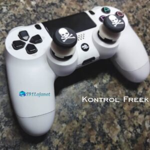 Kontrol Freek Analogico Controle PS4 FPS Shooter Tiro Extensor Protetor Grip Skull Branco
