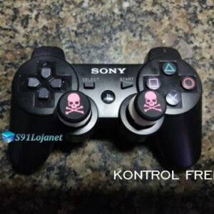 Kontrol Freek Analogico Controle PS3 FPS Shooter Tiro Extensor Protetor Grip Skull Rosa