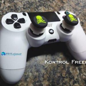 Kontrol Freek Analogico Controle PS4 FPS Shooter Tiro Extensor Protetor Grip Skull Verde
