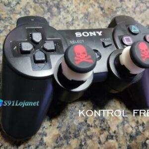 Kontrol Freek Analogico Controle PS3 FPS Shooter Tiro Extensor Protetor Grip Skull Vermelho