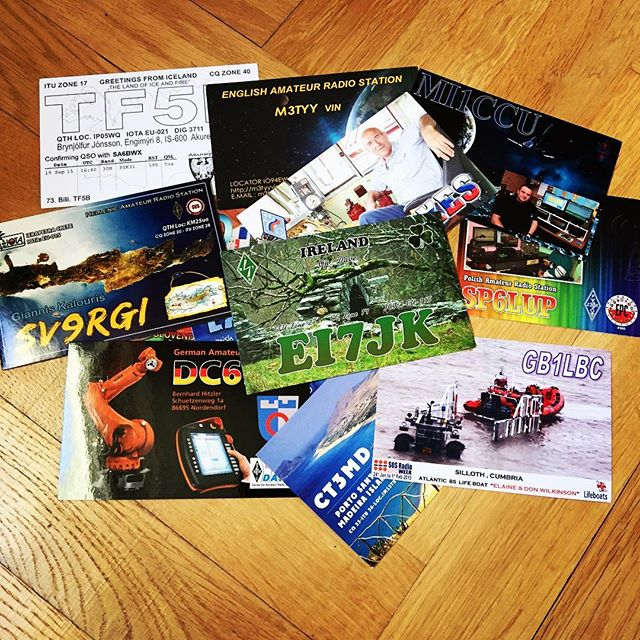 Some QSL Cards that arrived this week. #hamradio #hamradiouk #qsl #qslcard