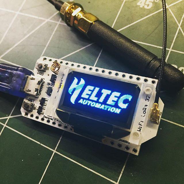 New Esp32 board. #heltec #lora #esp32 #arduino #oled #antenna #868mhz #hamradio #sa6bwx