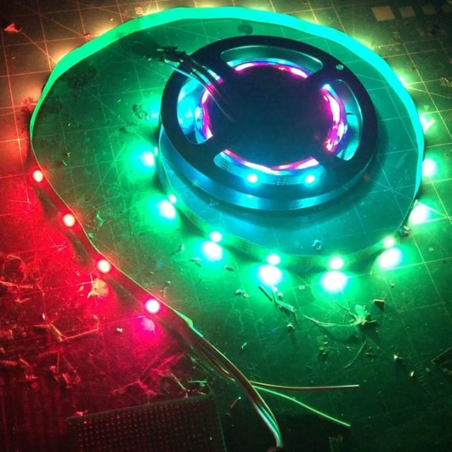 Cool! Neopixels and arduino. #neopixel #ws2812 #5050 #sa6bwx #electronics #arduino