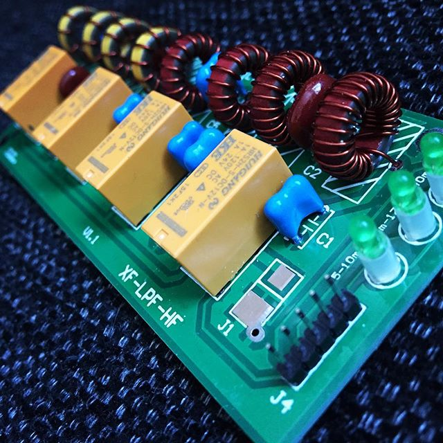 Low Pass Filter  #hf #lpf #shortwave #kit #solder #electronics #ebay #sa6bwx #hamradio #hamradiouk #pcbdesign