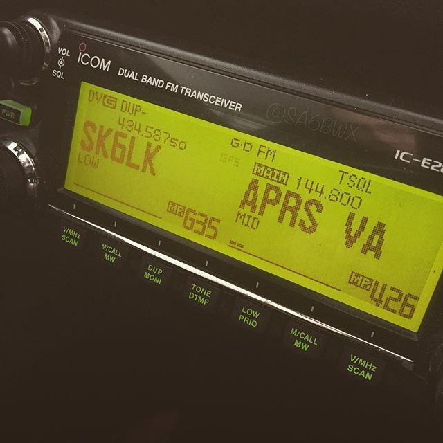One of the mobile rigs #icom #ic2820 #dstar #aprs #gps #sk6lk #2meter #70cm #mobile #sa6bwx #hamradio #hamradiouk #amateuradio