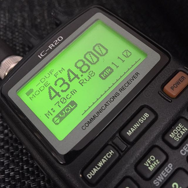 Communications Receiver #icom #r20 #70cm #scanner #communicationsreceiver #hamradio #hamradiouk #sa6bwx #electronics