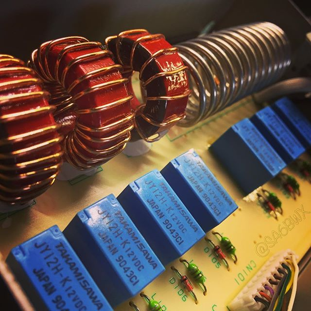 Ts850 Atu #toroid #inductor #relay #kenwood #tuner #atu #hf #shortwave #hamradio #hamradiouk #sa6bwx #ts850sat